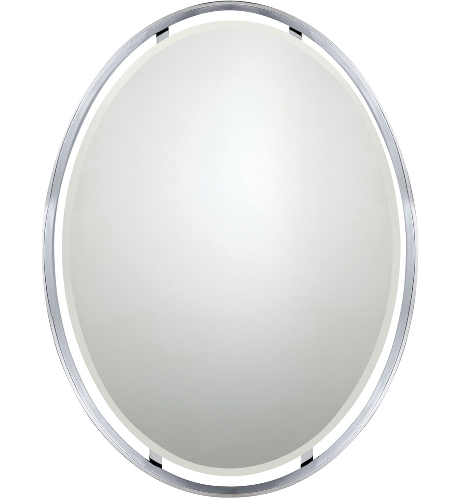 Quoizel - UPRZ43426C - Uptown Ritz Polished Chrome 26 Inch Oval Mirror