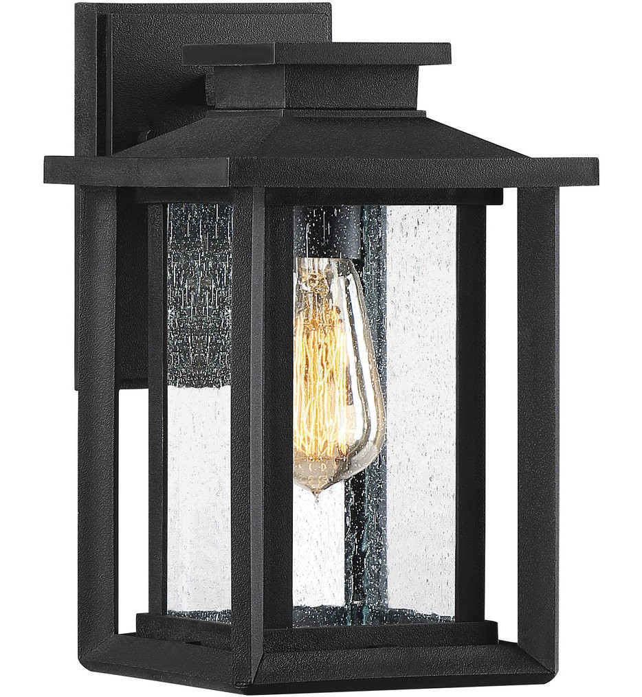 Quoizel - WKF8407EK - Wakefield Earth Black 11 Inch Outdoor Wall Lantern