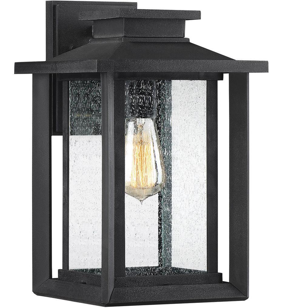 Quoizel - WKF8409EK - Wakefield Earth Black 14 Inch Outdoor Wall Lantern