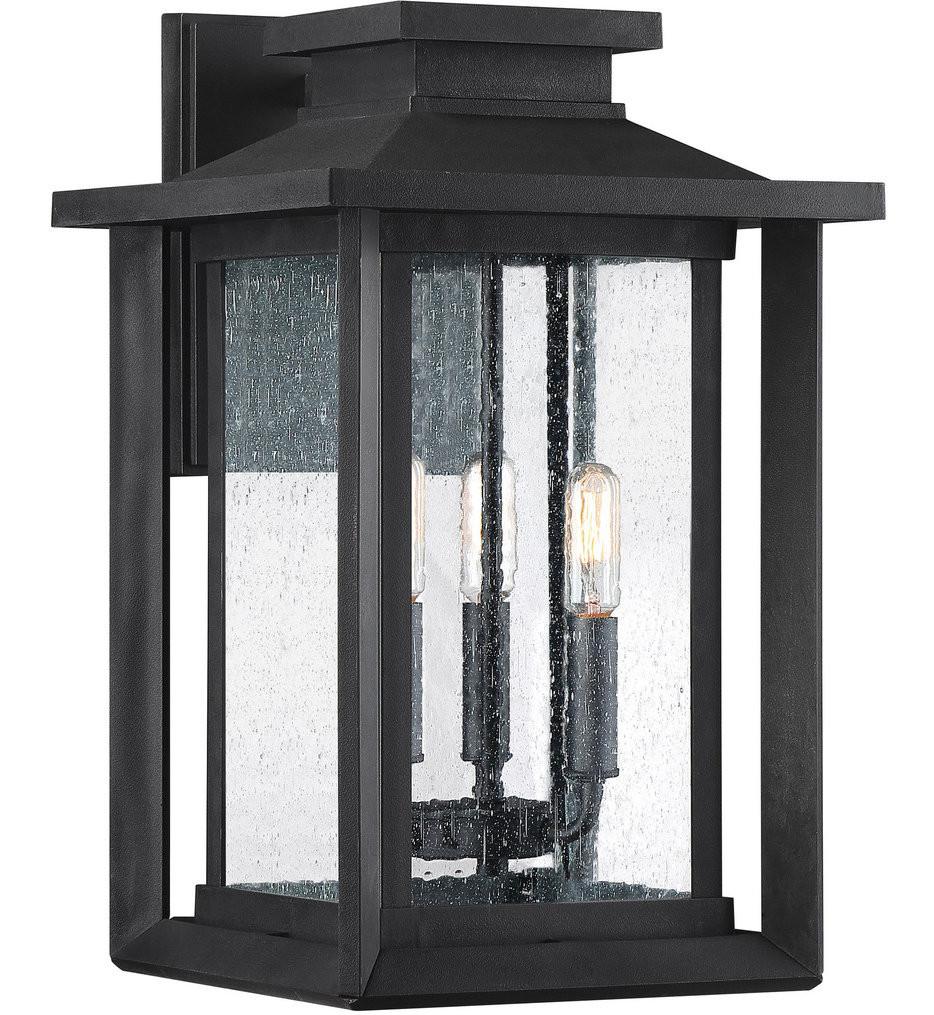 Quoizel - WKF8411EK - Wakefield Earth Black 17 Inch Outdoor Wall Lantern