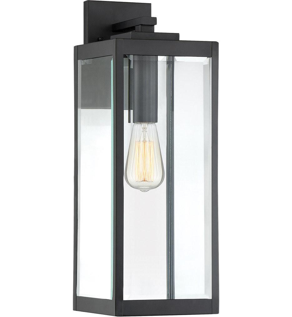 Quoizel - WVR8407EK - Westover Earth Black 20 Inch Outdoor Wall Lantern