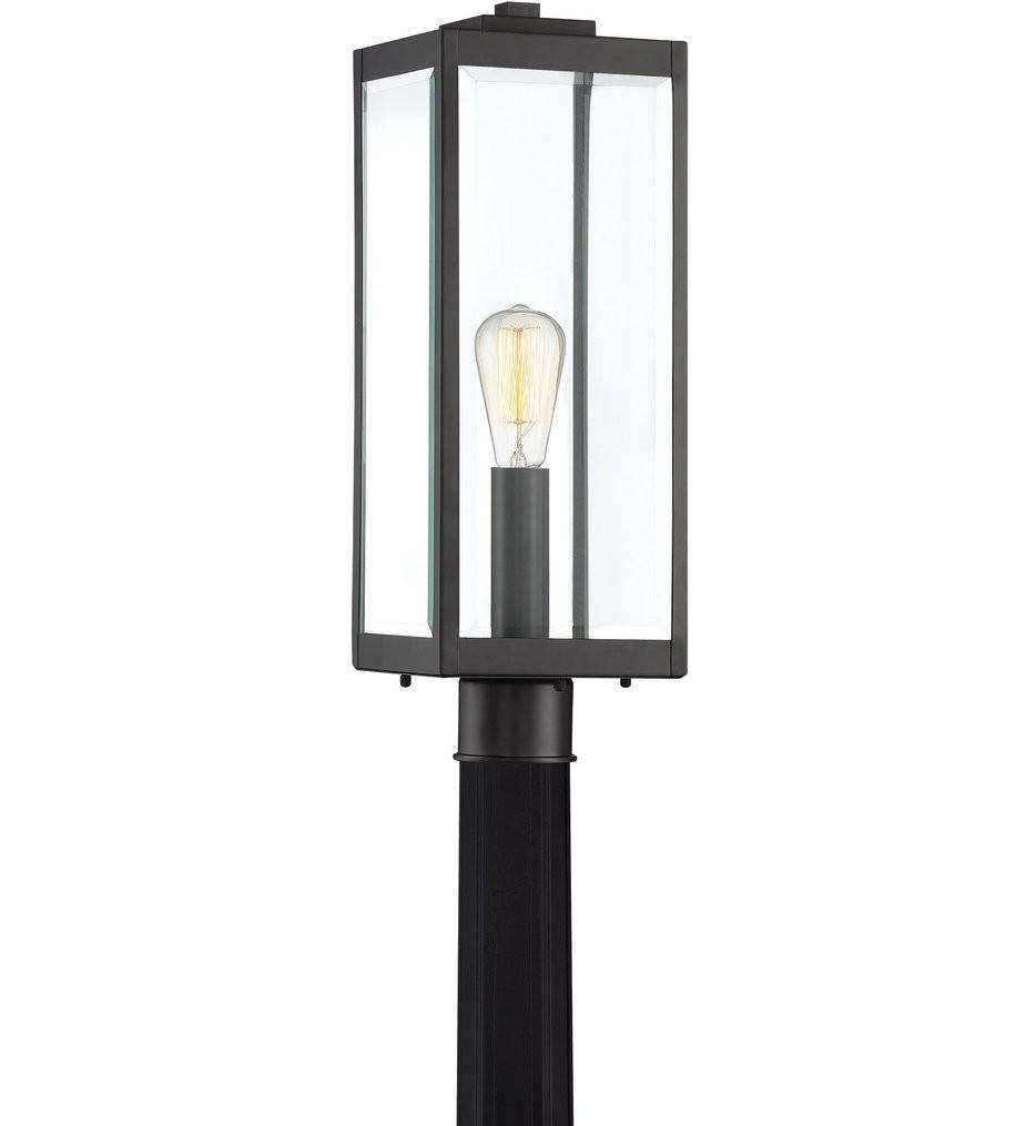 Quoizel - WVR9007EK - Westover Earth Black Outdoor Post Lantern