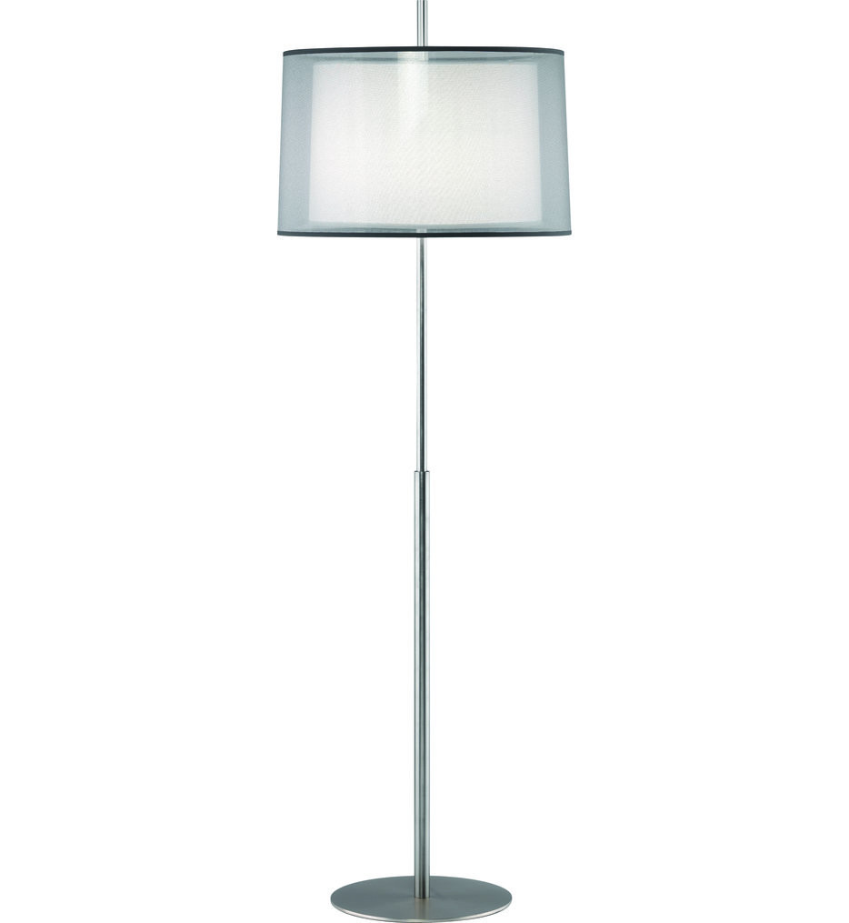 Robert Abbey - S2191 - Saturnia Floor Lamp with Silver Transparent Fabric Shade