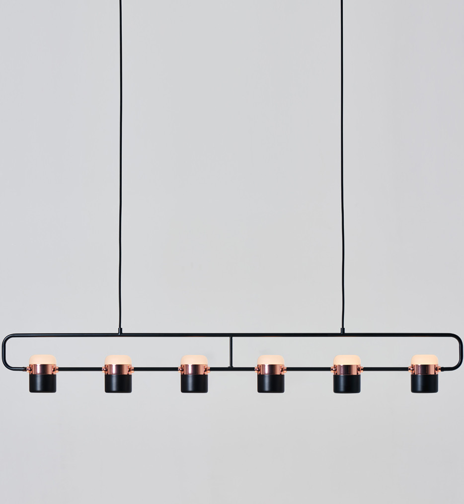 Seed Design - SLD-80PF6-BK - Ling Black/Copper Pendant