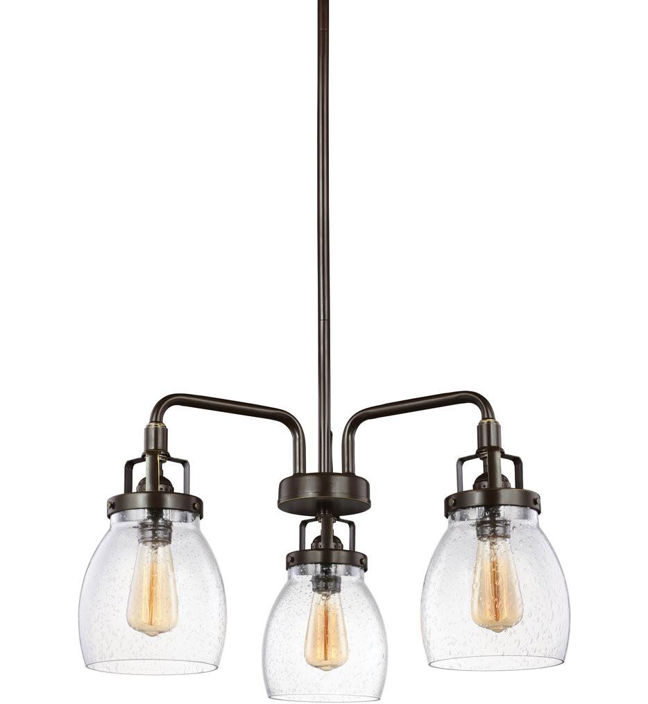 Sea Gull Lighting - 3114503-782 - Belton Heirloom Bronze 3 Light Chandelier