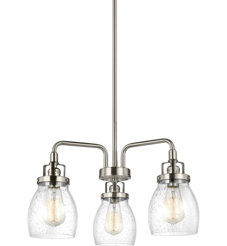 Sea Gull Lighting - 3114503-962 - Belton Brushed Nickel 3 Light Chandelier