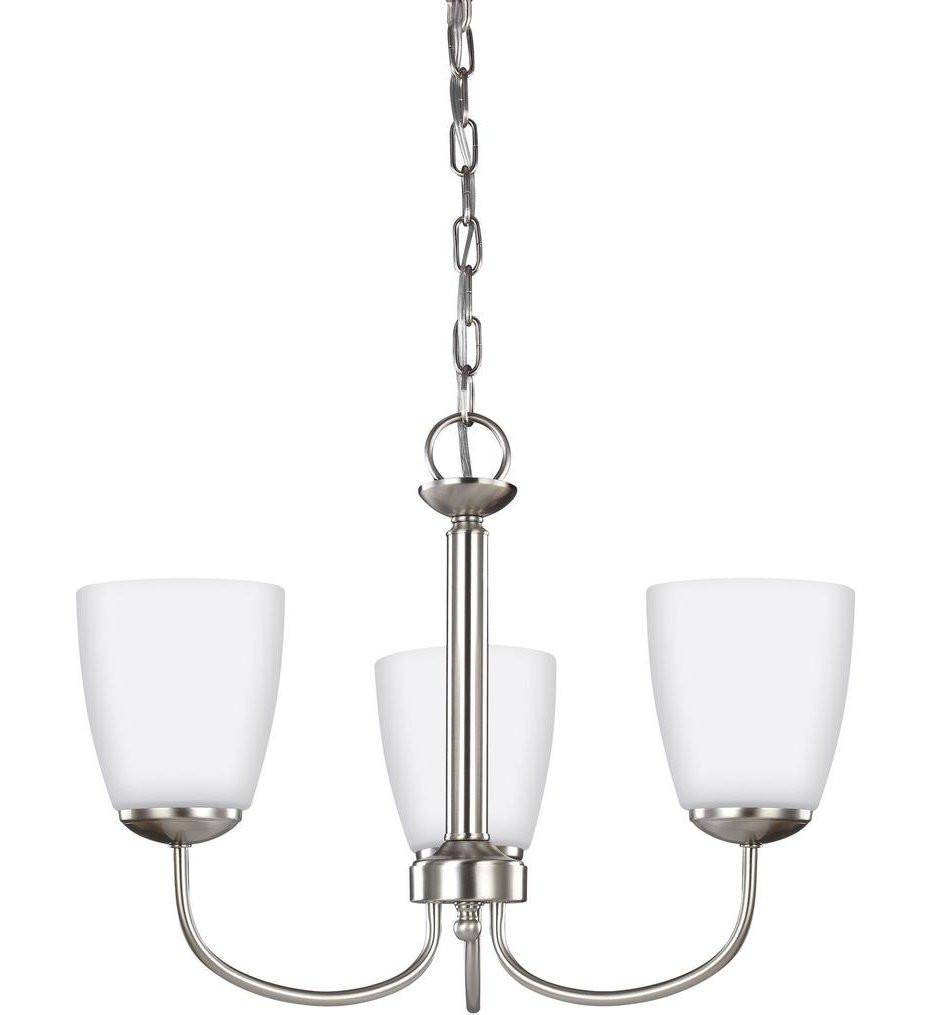 Sea Gull Lighting - 3116603EN3-962 - Bannock Brushed Nickel 3 Light LED Chandelier
