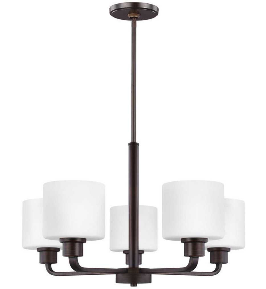 Sea Gull Lighting - 3128805EN3-710 - Canfield Burnt Sienna 5 Light LED Chandelier