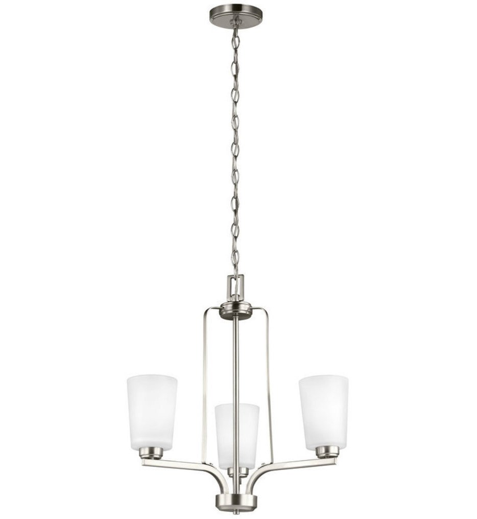 Sea Gull Lighting - 3128903-962 - Franport Brushed Nickel 3 Light Incandescent Chandelier