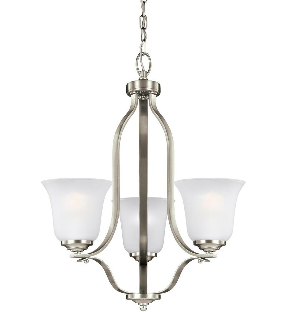 Sea Gull Lighting - 3139003-962 - Emmons Brushed Nickel 3 Light Incandescent Chandelier