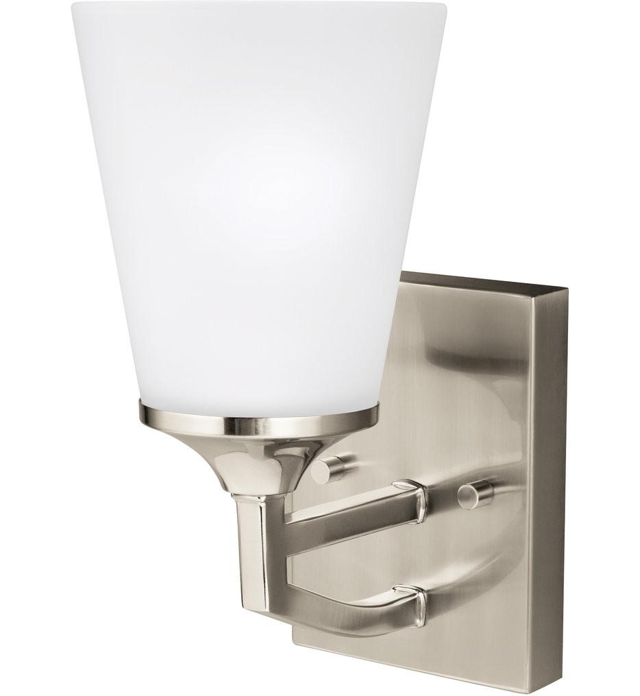 Sea Gull Lighting - 4124501EN3-962 - Hanford Brushed Nickel 1 Light LED Wall Sconce