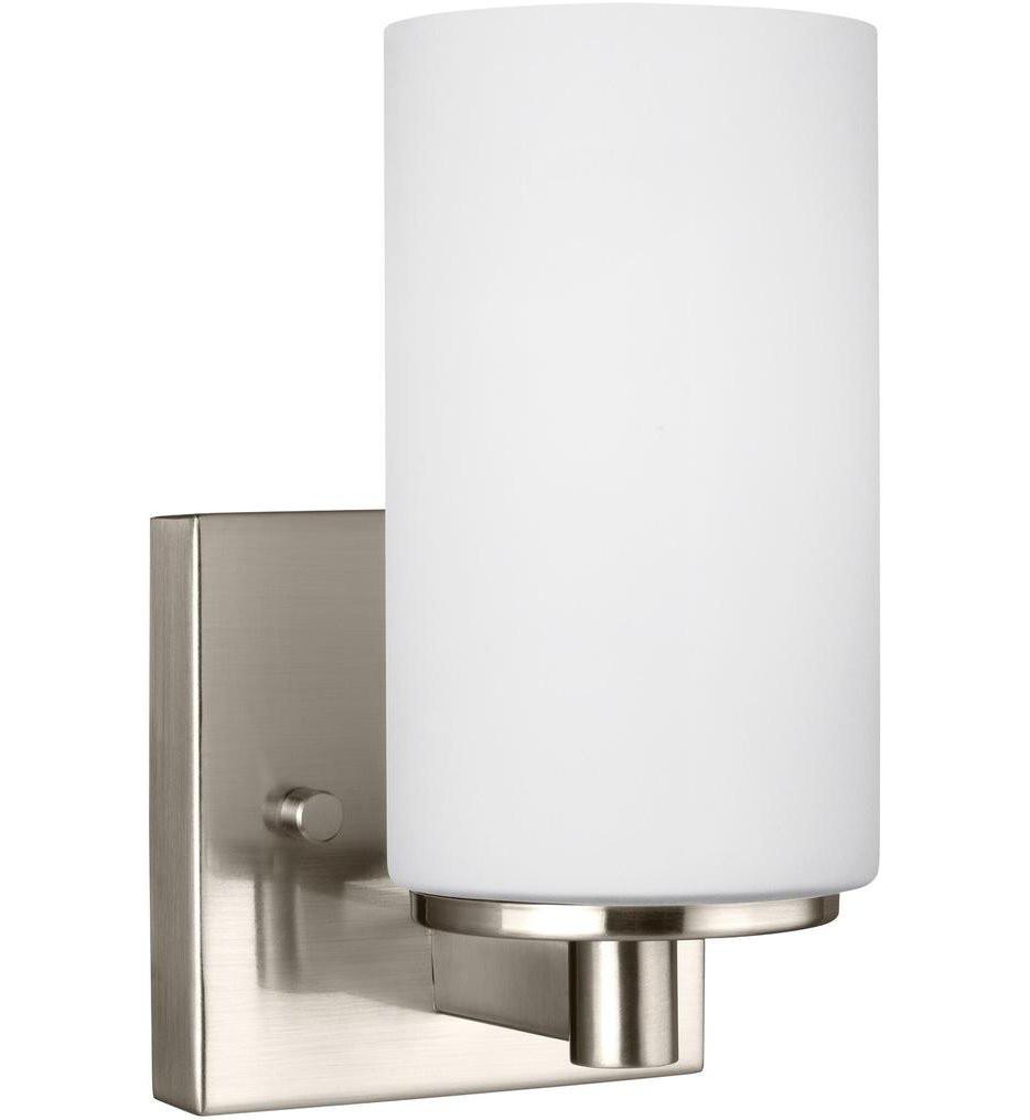 Sea Gull Lighting - 4139101-962 - Hettinger Brushed Nickel 1 Light Incandescent Wall Sconce