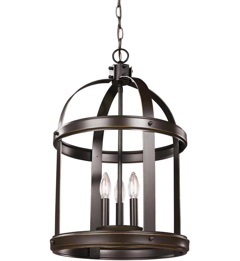 Sea Gull Lighting - 5240703-782 - Lonoke Heirloom Bronze 14.25 Inch 3 Light Incandescent Pendant