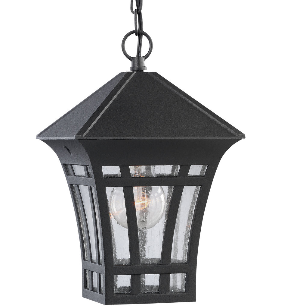 Sea Gull Lighting - 60131-12 - Herrington Black 1 Light Outdoor Pendant