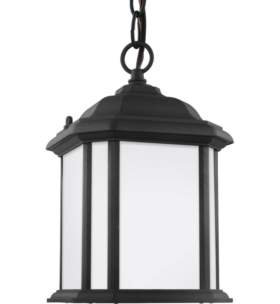 Sea Gull Lighting - 60529EN3-12 - Kent Black 1 Light LED Outdoor Semi-Flush/Outdoor Pendant