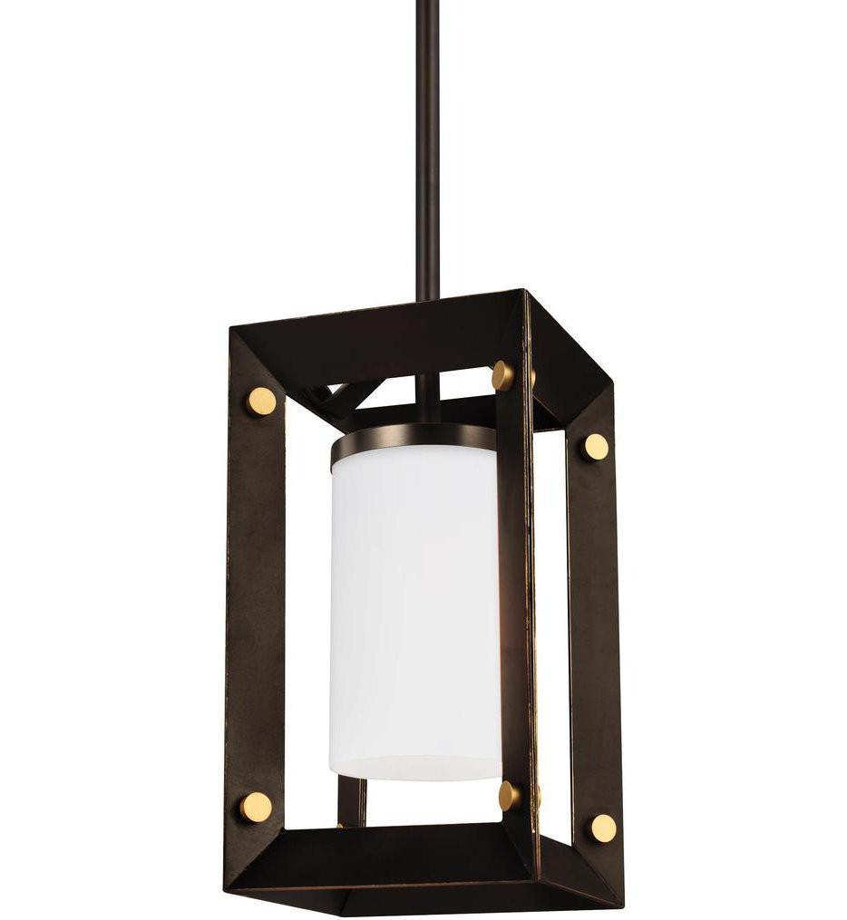Sea Gull Lighting - 6140501EN3-71 - Chatauqua Antique Bronze 1 Light LED Mini-Pendant