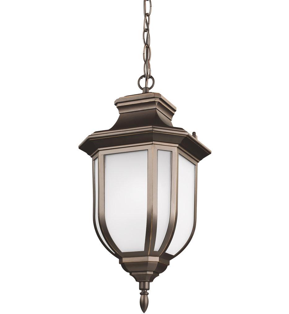 Sea Gull Lighting - 6236301EN3-71 - Childress Antique Bronze 1 Light LED Outdoor Pendant