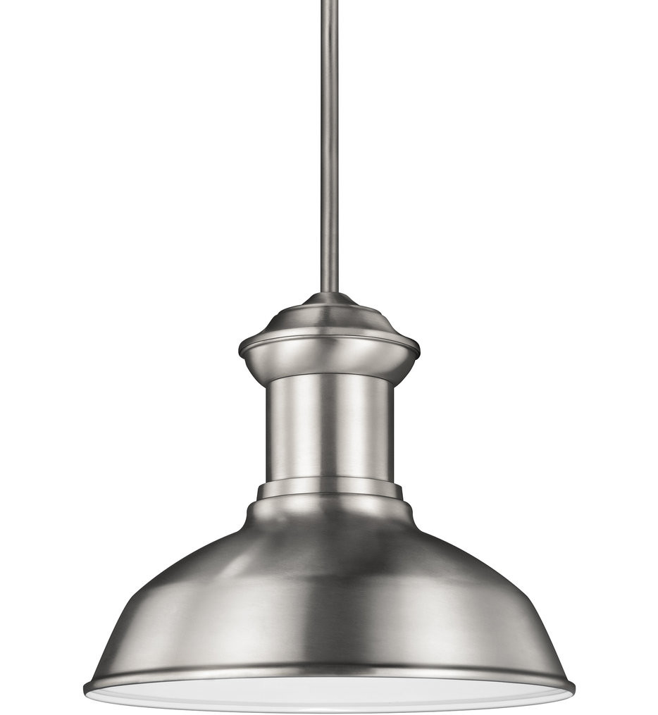 Sea Gull Lighting - 6247701EN3-04 - Fredricksburg Satin Aluminum 1 Light LED Outdoor Pendant