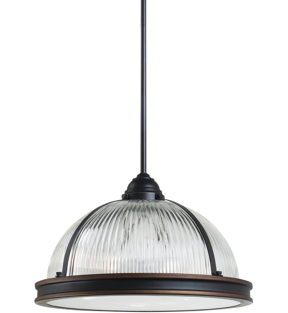 Sea Gull Lighting - Pratt Street Prismatic 3 Light Pendant
