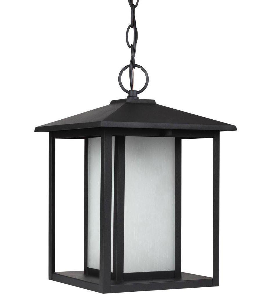 Sea Gull Lighting - 69029EN3-12 - Hunnington Black 1 Light LED Outdoor Pendant