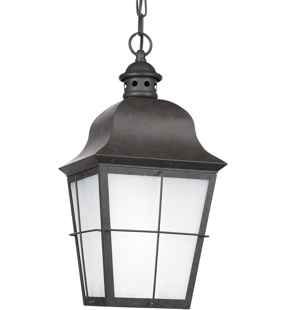 Sea Gull Lighting - 69272EN3-46 - Chatham Oxidized Bronze 1 Light LED Outdoor Pendant