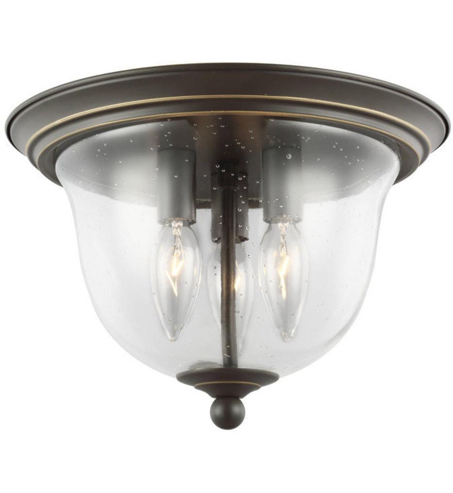 Sea Gull Lighting - 7514503EN-782 - Belton Heirloom Bronze 3 Light LED Flush Mount