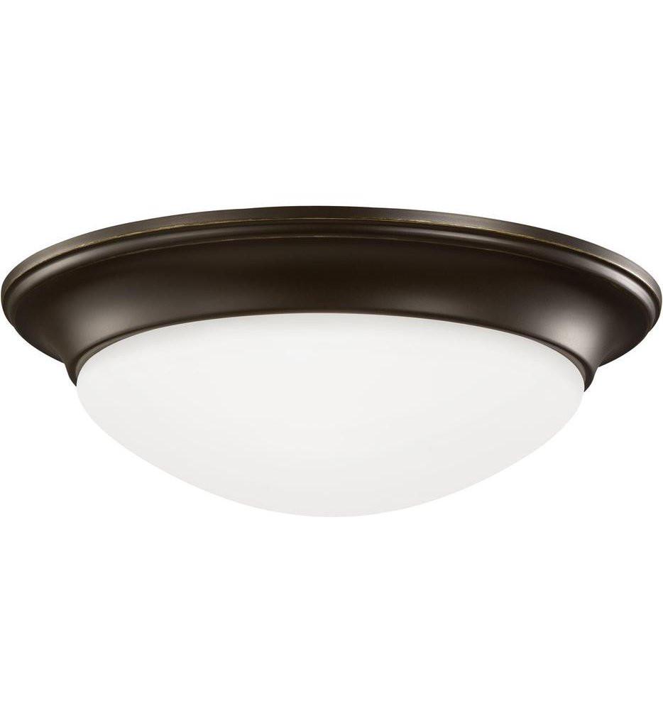 Sea Gull Lighting - 7543493S-782 - Nash Heirloom Bronze 11.5 Inch 1 Light Flush Mount