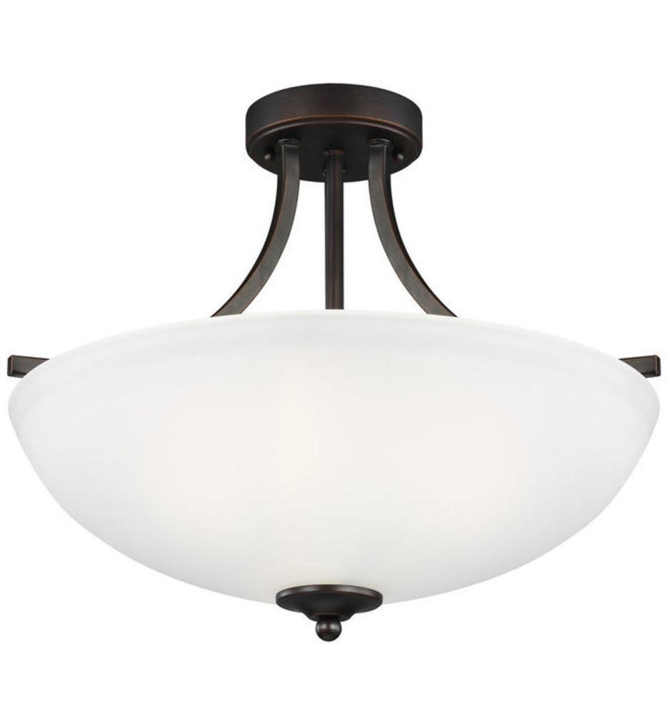 Sea Gull Lighting - 7716503-710 - Geary Burnt Sienna 3 Light Incandescent Semi-Flush/Pendant