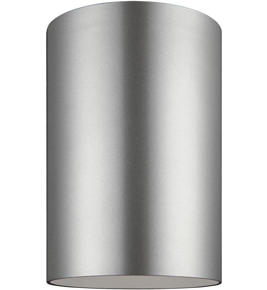Sea Gull Lighting - 7813997S-753 - Outdoor Cylinders Painted Brushed Nickel 1 Light Outdoor Flush Mount