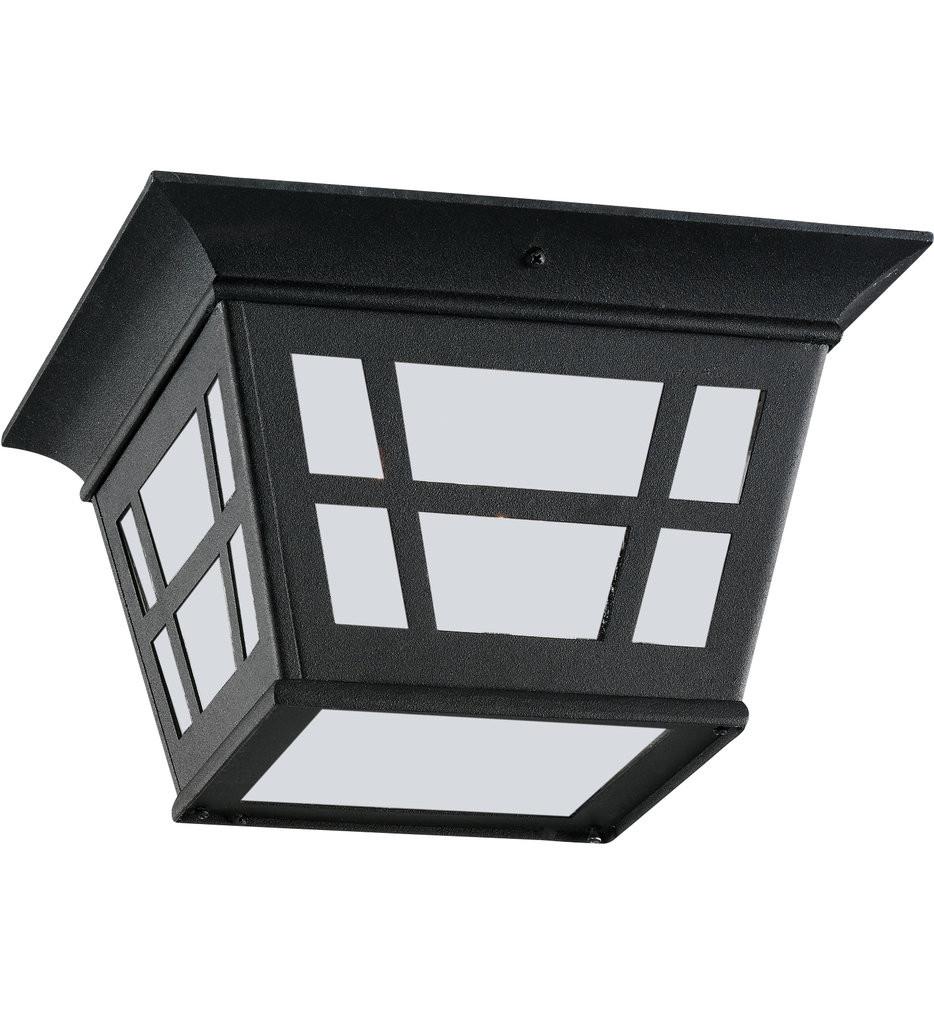 Sea Gull Lighting - 79131-12 - Herrington Black 2 Light Incandescent Outdoor Flush Mount
