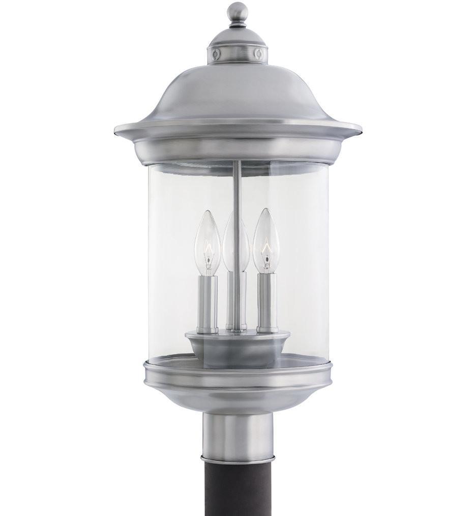 Sea Gull Lighting - Hermitage 3 Light Outdoor Post Lantern
