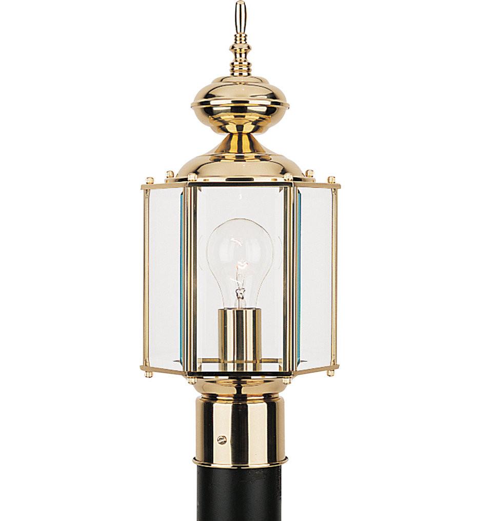 Sea Gull Lighting - Classico 1 Light Outdoor Post Lantern