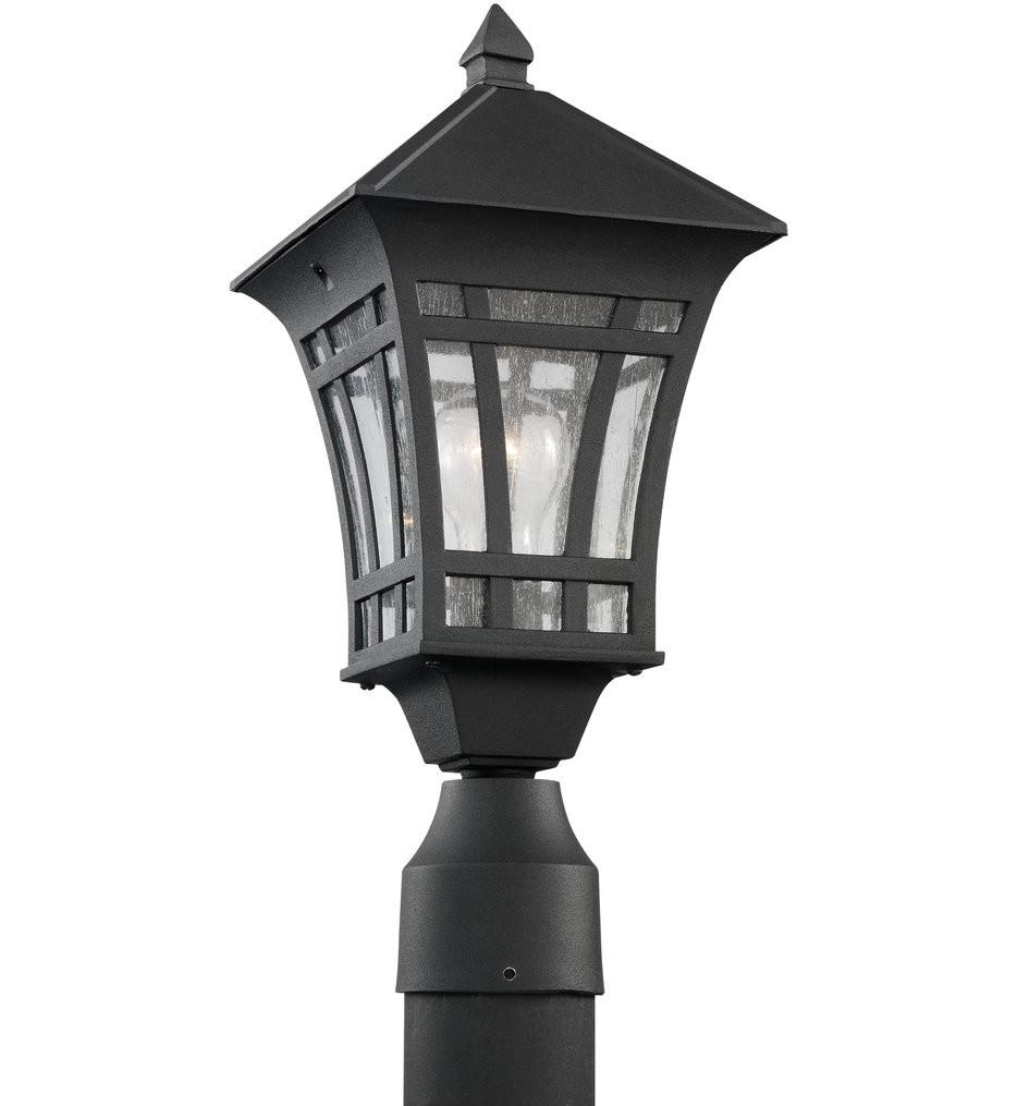 Sea Gull Lighting - 82131-12 - Herrington Black 1 Light Outdoor Post Lantern