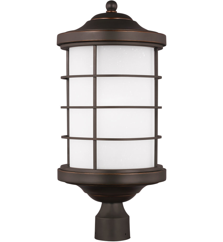 Sea Gull Lighting - 8224451EN3-71 - Sauganash Antique Bronze 1 Light LED Outdoor Post Lantern