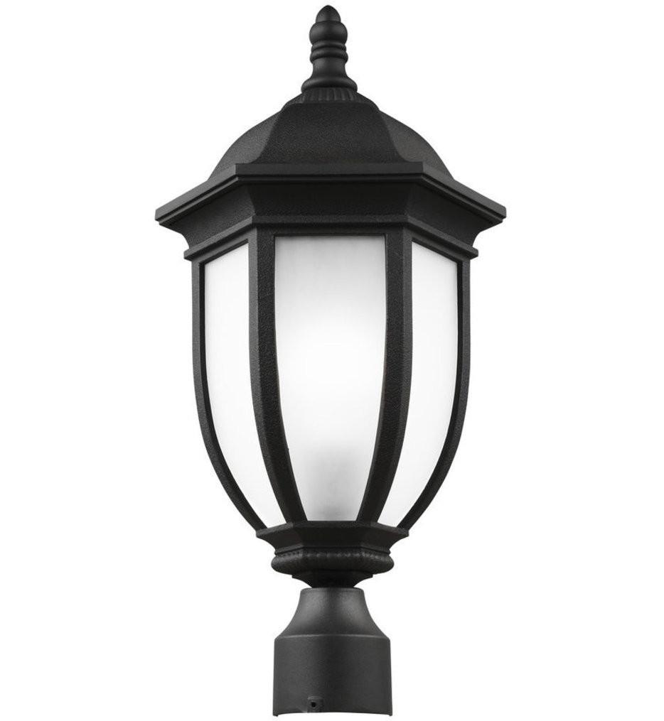 Sea Gull Lighting - 8229301-12 - Galvyn Black 1 Light Incandescent Outdoor Post Lantern