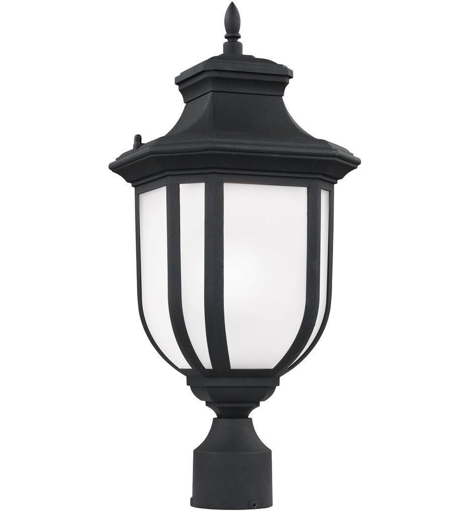 Sea Gull Lighting - 8236301-12 - Childress Black 1 Light Incandescent Outdoor Post Lantern