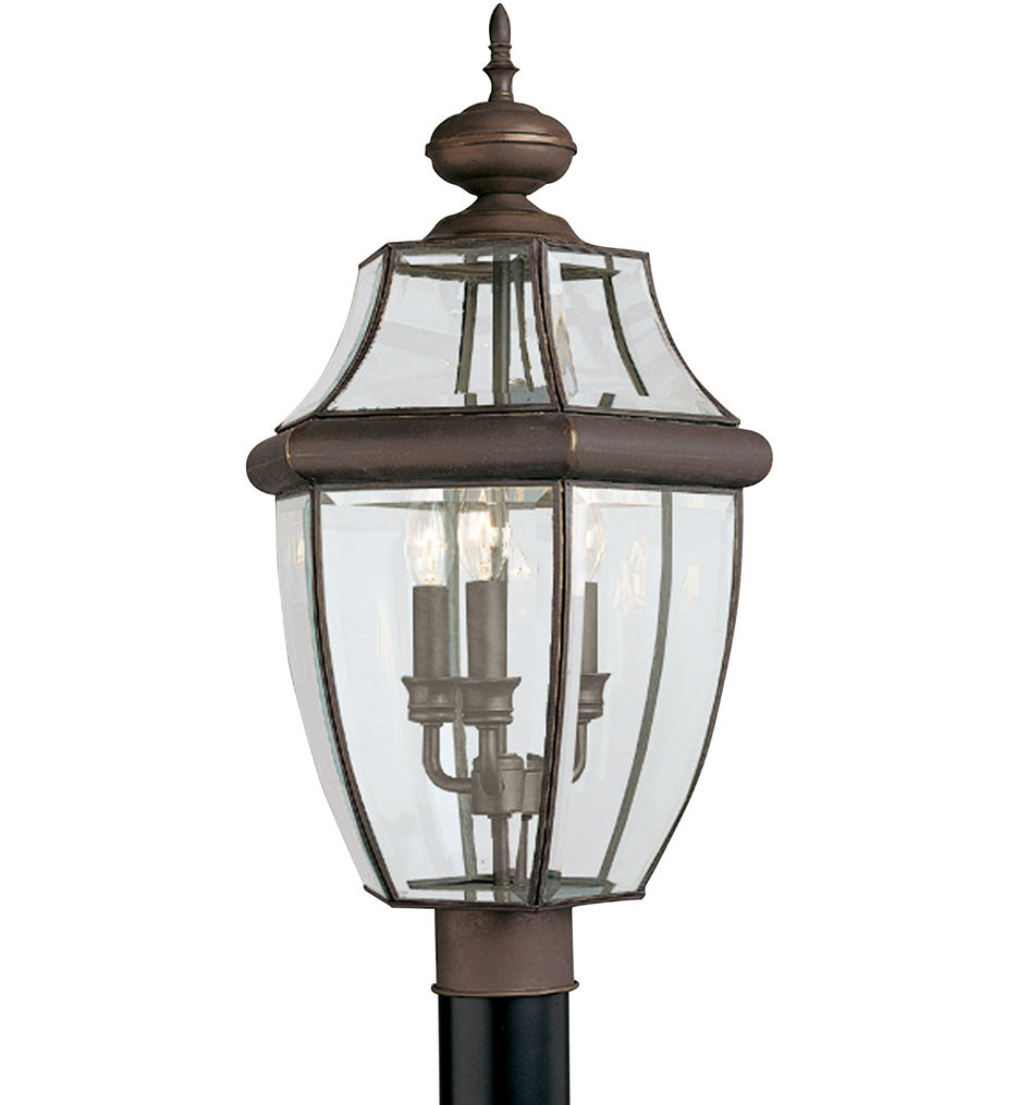 Sea Gull Lighting - Lancaster 3 Light Outdoor Post Lantern