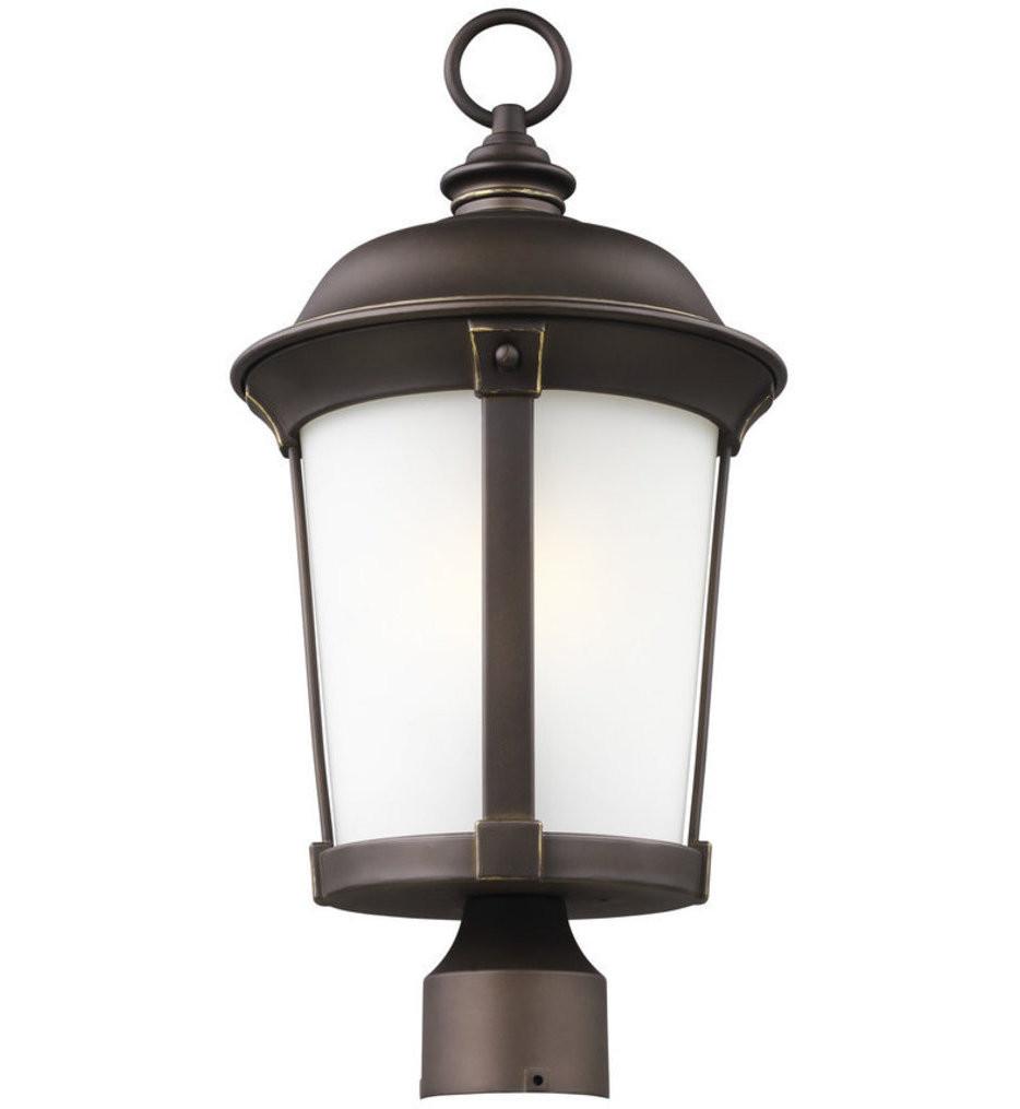 Sea Gull Lighting - 8250701EN3-71 - Calder Antique Bronze 1 Light LED Outdoor Post Lantern