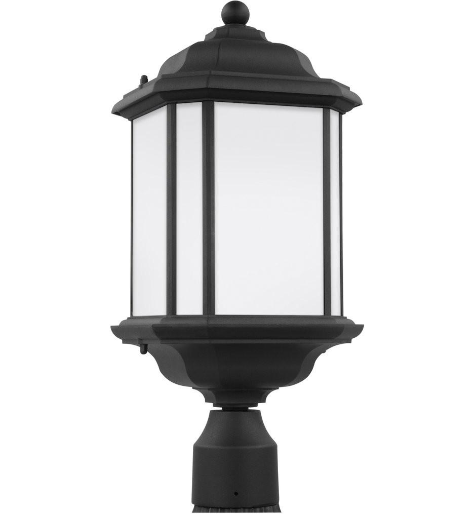 Sea Gull Lighting - 82529EN3-12 - Kent Black 1 Light LED Outdoor Post Lantern