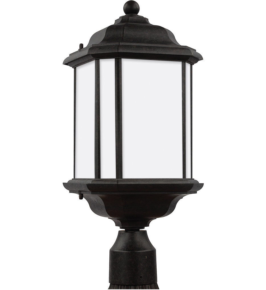 Sea Gull Lighting - 82529EN3-746 - Kent Oxford Bronze 1 Light LED Outdoor Post Lantern