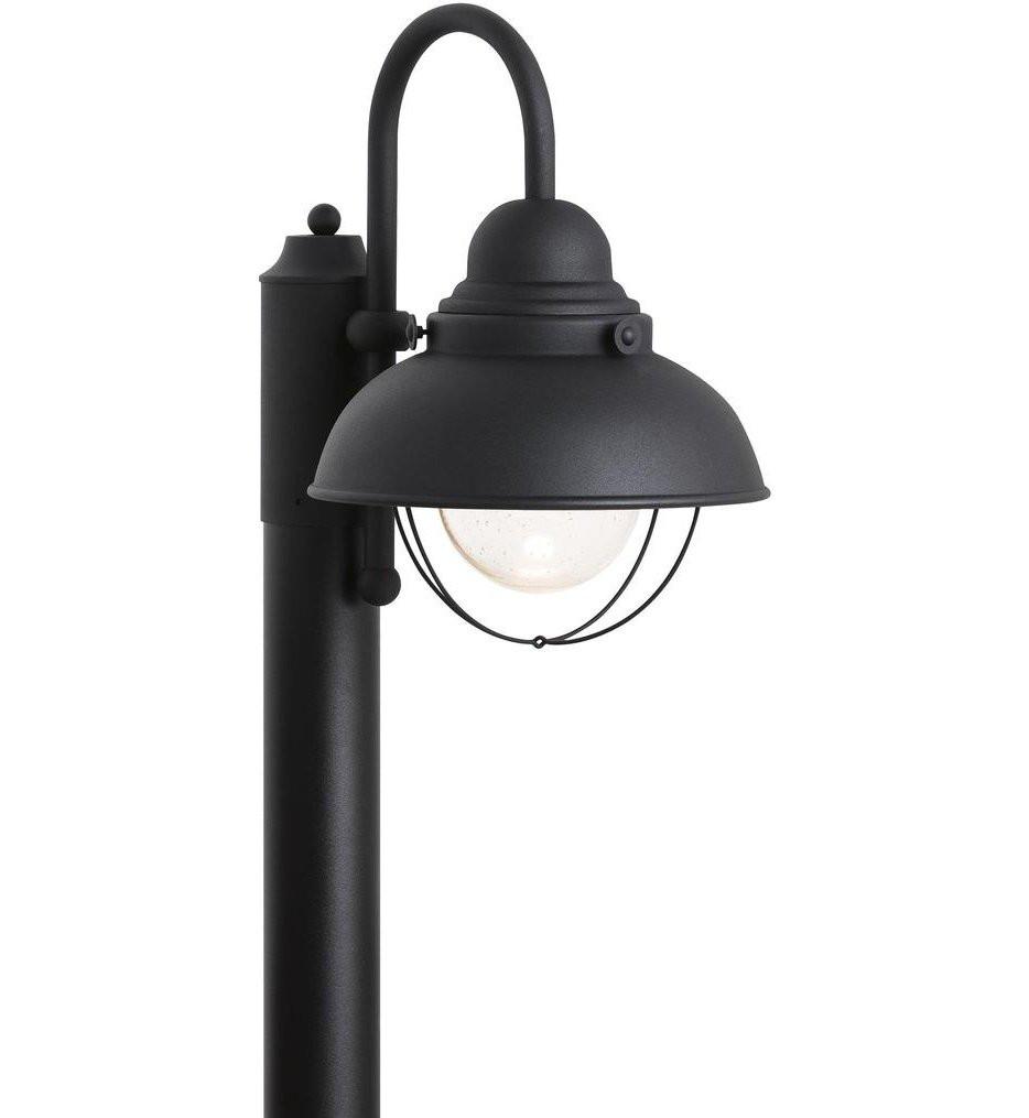 Sea Gull Lighting - 826993S-12 - Sebring Black 1 Light Outdoor Post Lantern