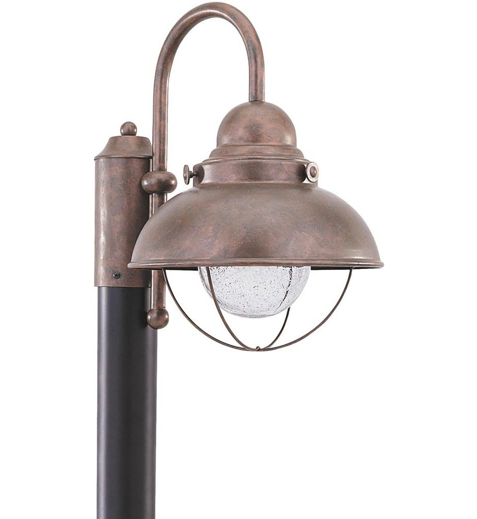 Sea Gull Lighting - 826993S-44 - Sebring Weathered Copper 1 Light Outdoor Post Lantern