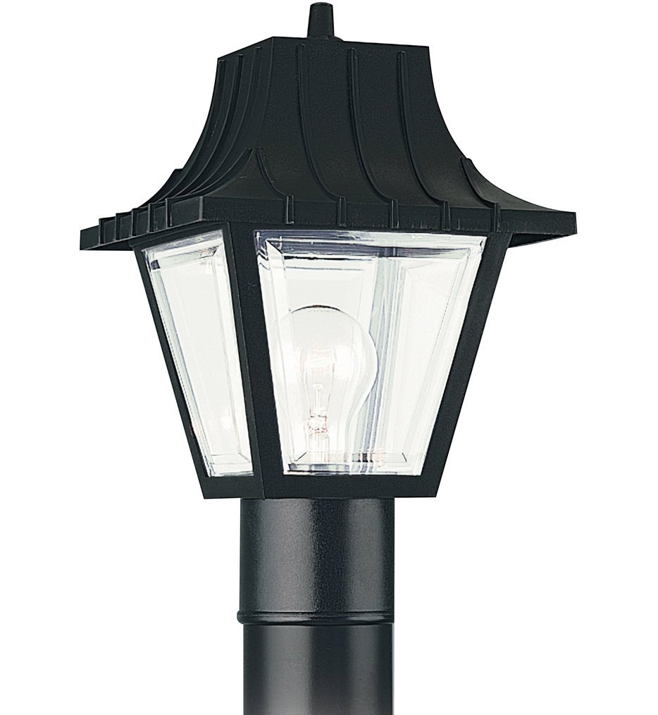 Sea Gull Lighting - 8275-32 - Polycarbonate Outdoor Clear 1 Light Outdoor Post Lantern