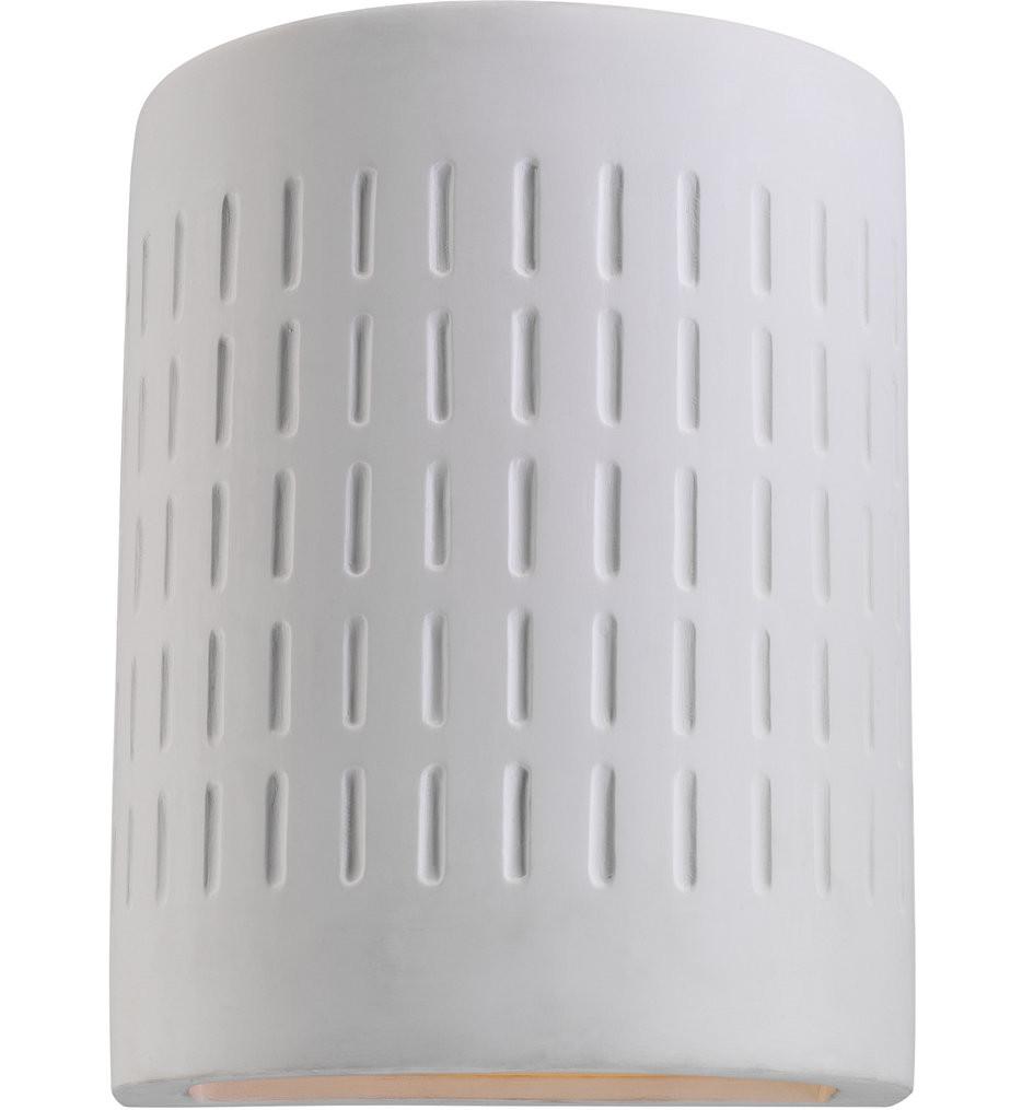 Sea Gull Lighting - Paintable Ceramic Unfinished Ceramic 10 Light 1 Light Outdoor Wall Lantern
