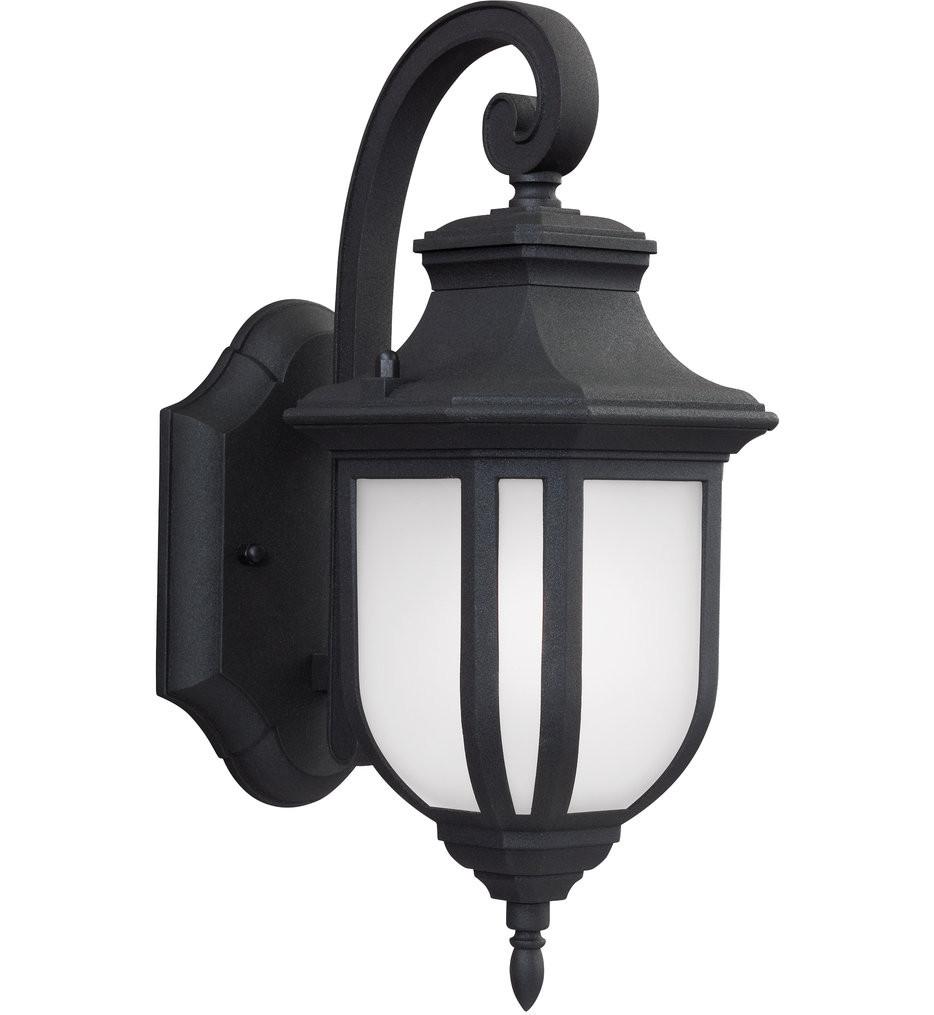Sea Gull Lighting - 8536301EN3-12 - Childress Black 12.63 Inch 1 Light LED Outdoor Wall Lantern