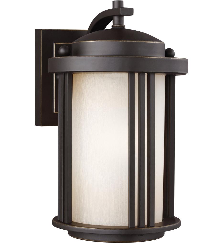 Sea Gull Lighting - 8547901EN3-71 - Crowell Antique Bronze 10 Inch 1 Light LED Energy Star Outdoor Wall Lantern