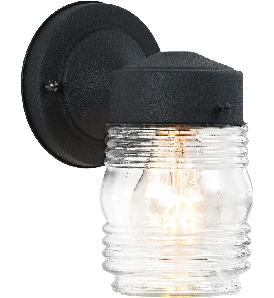 Sea Gull Lighting - 8550-12 - Outdoor Wall Black 7.5 Inch 1 Light Outdoor Wall Lantern