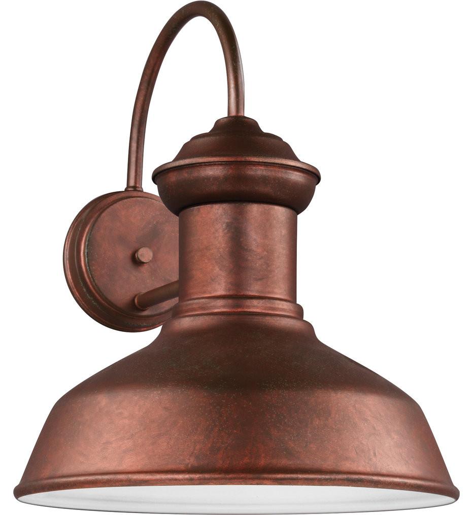 Sea Gull Lighting - 8647701EN3-44 - Fredricksburg Weathered Copper 15.88 Inch 1 Light LED Outdoor Wall Lantern