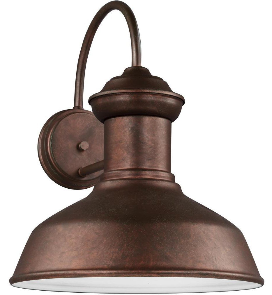Sea Gull Lighting - 8647793S-44 - Fredricksburg Weathered Copper 15.88 Inch 1 Light Outdoor Wall Lantern