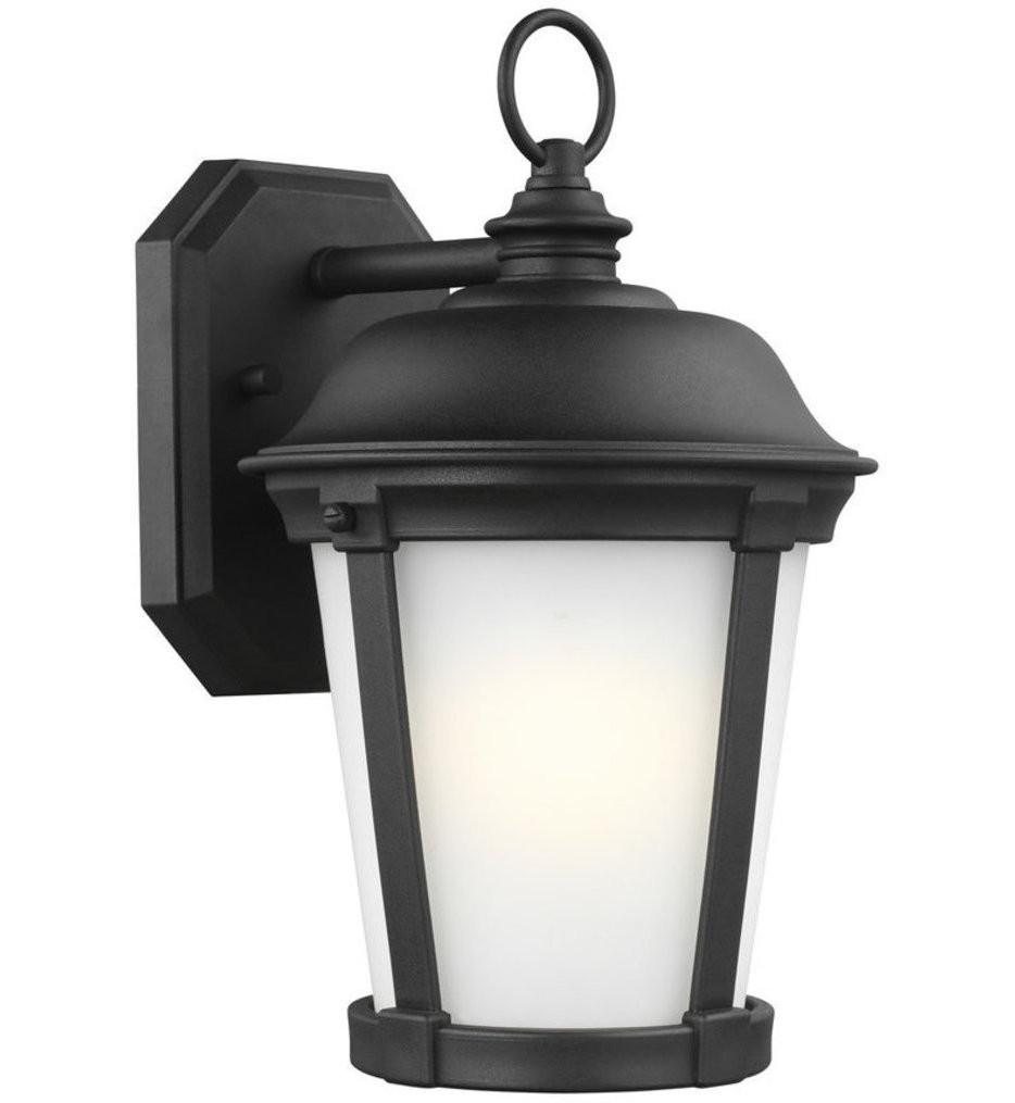 Sea Gull Lighting - 8650701EN3-12 - Calder Black 12.25 Inch 1 Light LED Outdoor Wall Lantern
